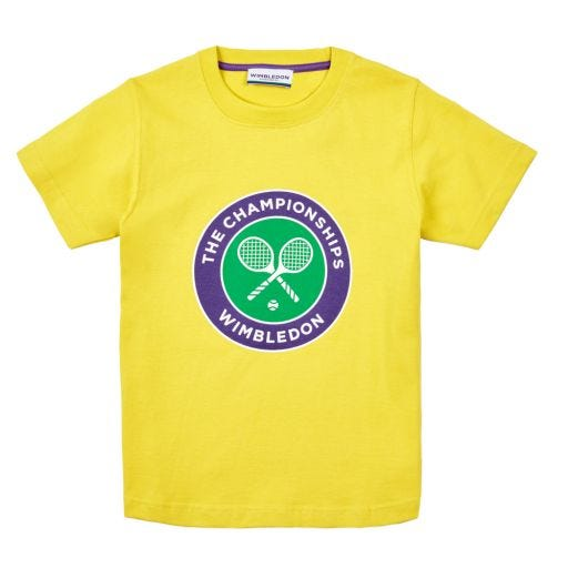 Kids Championships Logo T-Shirt - Yellow
