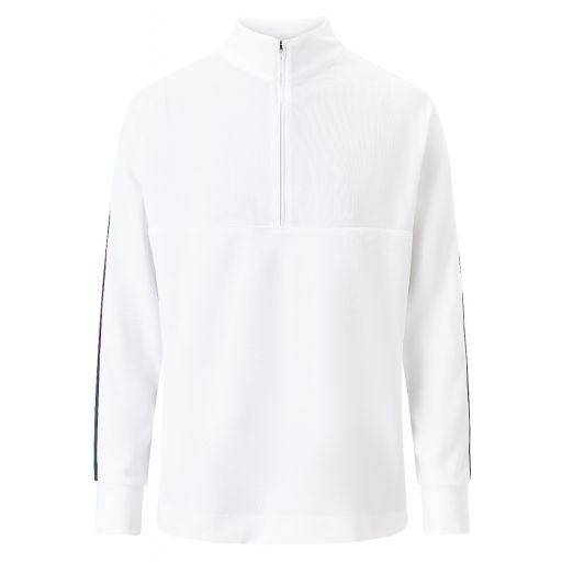 Men's On Court 1/2 Zip Training Top - White