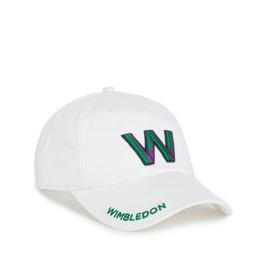Wimbledon W Baseball Cap - White