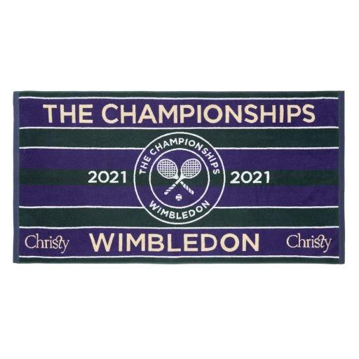 Wimbledon Championships Towel 2021 - Classic Green & Purple