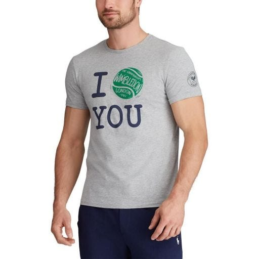 Polo Ralph Lauren I Love You T-Shirt - Grey