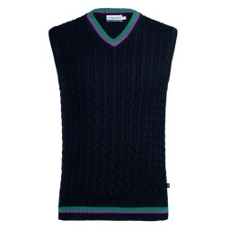 Men's Tank Cable Knit Sweater - Midnight