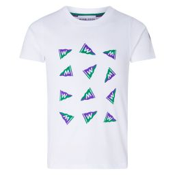 Kids Wimbledon Flag T-Shirt - White