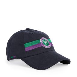 Logo Stripe Cap - Midnight