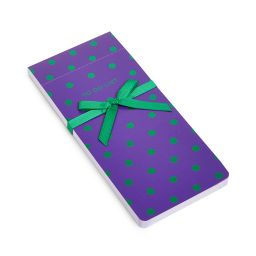 To Do List - Green Polka Dots on Purple