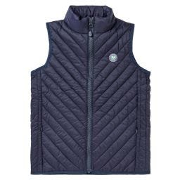 Kids Gilet - Midnight with Green