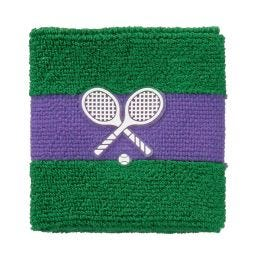 Sweatband Pair - Green & Purple