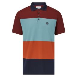 Men's Mercerised Block Colour Polo