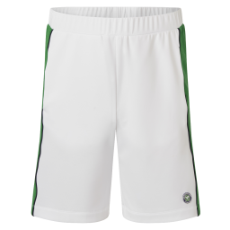 Men's Competition Training Shorts - White with green panels