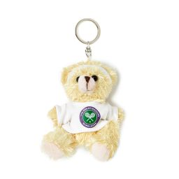 Teddy Bear Keyring - White