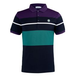 Men's Block Stripe Polo - Midnight