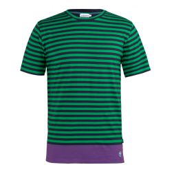 Men's Striped T-Shirt - Midnight & Green