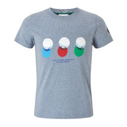 Kids Ball Shadow T-Shirt - Blue Marl