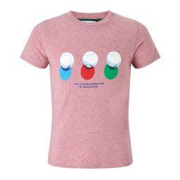 Kids Balls T-Shirt - Pink Marl