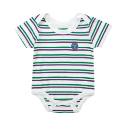 Babygrow - Green and Purple Stripes
