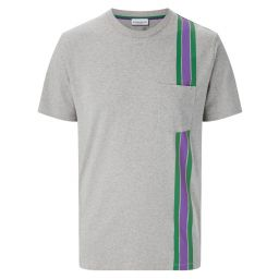 Men's T-shirt - Green & Purple Strike Stripe