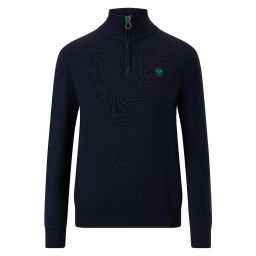 Men's Half Zip Merino Pullover - Midnight