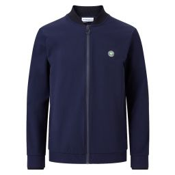 Men's Rain Resistant Full Zip Training Jacket - Navy