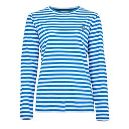 Women's Relaxed Fit Long Sleeve Tee - Blue