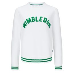 Women's High Stitch Wimbledon Sweatshirt - White