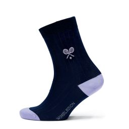 Ladie's Organic Cotton Socks - Midnight/Lilac