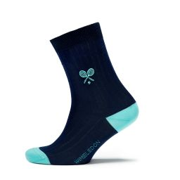 Ladie's Organic Cotton Socks - Midnight/Mint