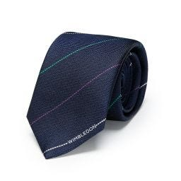 House Colour Woven Stripe Tie - Navy