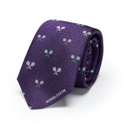 Crossed Rackets Tie - Purple
