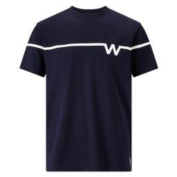 Men's Chest Stripe 'W' Print T-Shirt - Midnight