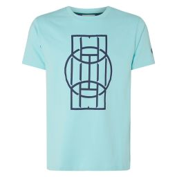 Men's Ball Court Crew Neck T-Shirt - Blue