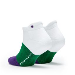 Wimbledon Bold Colour Stripe Ankle Socks Twin Pack