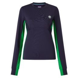 Women's Tournament Training Long Sleeve T-Shirt - Midnight and Green Panels