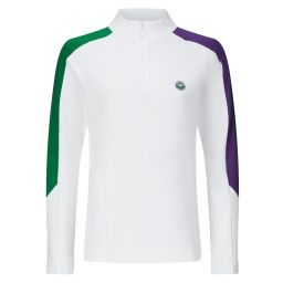Women's Lightweight 1/2 Zip Panelled Training Top - White