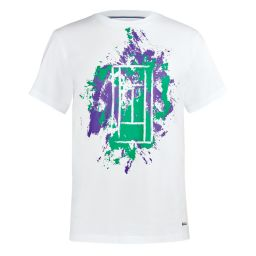 Men's Brushstrokes Printed Tee - White