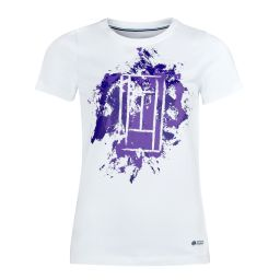 Women's Brushstrokes Printed Tee - White