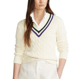 Polo Ralph Lauren Ladies' Tennis Sweater - Cream