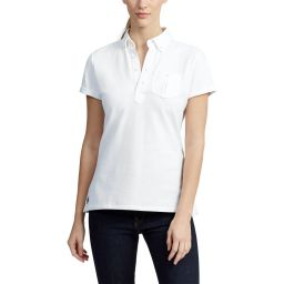 Polo Ralph Lauren Small Pony Polo Shirt - Ladies - White