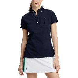 Polo Ralph Lauren Small Pony Polo Shirt - Ladies - Navy