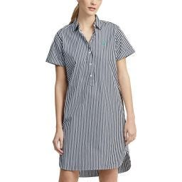 Polo Ralph Lauren Stripe Dress Ladies - White/Navy