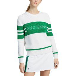 Polo Ralph Lauren Pima Cotton Long Sleeve Sweater - Ladies - White
