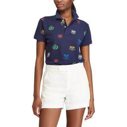Polo Ralph Lauren Ladies' Graphic Tennis  Polo Shirt - Multi
