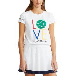 Polo Ralph Lauren Women's Love Crewneck T-Shirt - White
