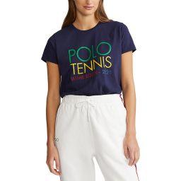 Polo Ralph Lauren Women's Polo Tennis Crewneck T-Shirt - Navy