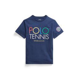 Polo Ralph Lauren Kids Polo Tennis T-Shirt - Navy