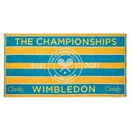 Wimbledon Championships Towel 2021 - Seasonal Ochre & Turquoise