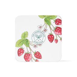 Wimbledon Strawberries Coasters - 4 Pack