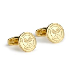 Championships Logo Cufflinks - Gold Plated