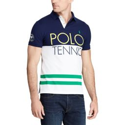 Polo Ralph Lauren Multi Stripe Polo Shirt - Navy/White
