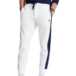 Polo Ralph Lauren Men's Joggers - White with Navy Side Stripe