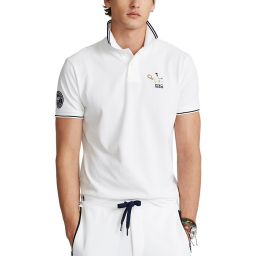 Polo Ralph Lauren Men's Polo Shirt with Tennis Player Embroidery  - White